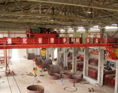50吨双梁行吊生产现场